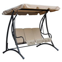 Charles Bentley 3 Seater Premium Swing Seat with Canopy