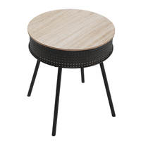 Charles Bentley Cane Side Table Black