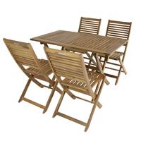 Charles Bentley FSC Acacia Hardwood 5pc Garden Furniture Set