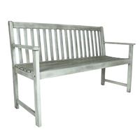Charles Bentley FSC Acacia White Washed Wooden Bench