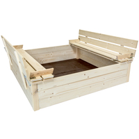 Charles Bentley Square FSC Wood Sand Pit with Bench