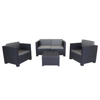 Charles Bentley Shaf Diva Comfort Lounge Set Grey
